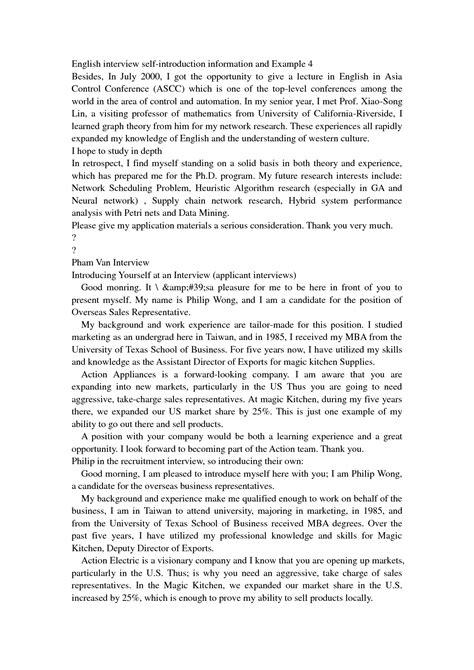 examples   written interview