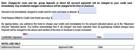 Sle Credit Card Number For Authorize Net Credit Card Authorization Form Template Pdf Freedownloads Net