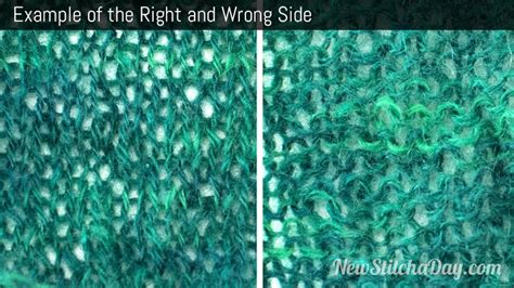 knitting wrong side row how to knit right and wrong side new stitch a day
