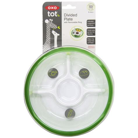 Oxo Tot Plate by Oxo Tot Divided Plate Green Babyonline