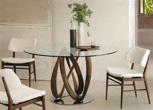 Upholstered Modern Dining Chairs Porada Infinity Round Dining Table Porada Furniture At