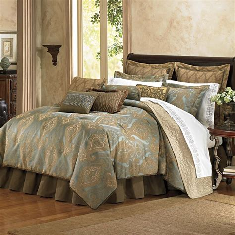 Brown And Gold Comforter by Bombay Cambay Azure King Comforter Set Aqua Gold