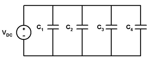 capacitor parallel voltage rating capacitors in parallel combination electronics tutorial