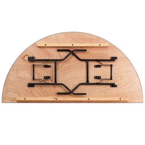 flash furniture 72 inch half round wood folding banquet