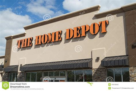 Home Depot Sign In by Home Depot Store Editorial Photography Image 41913642
