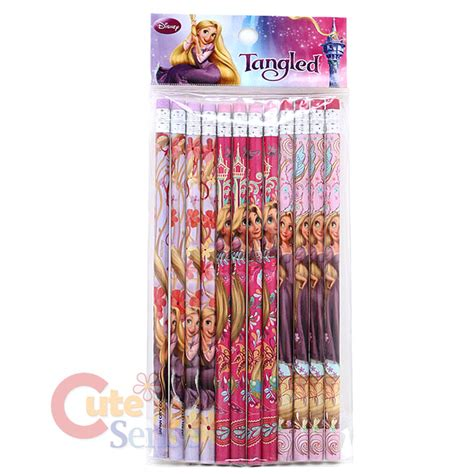 Pencil Set Princess disney princess tangled rapunzel pencil fragrance eraser 15pc stationery set ebay