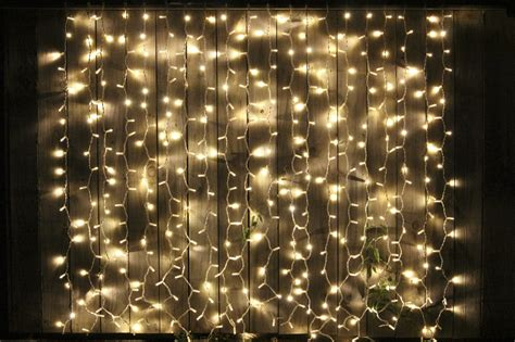 curtain fairy lights 2m x 2m black cable