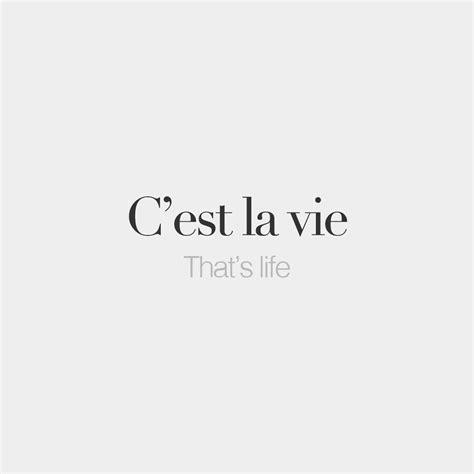 tattoo captions for instagram c est la vie that s life sɛ la vi frenchwords