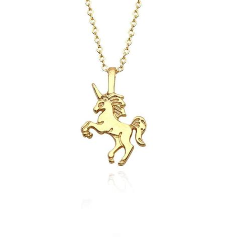 accessories fashion popular jewelry pendant gift unicorn necklace necklace simple