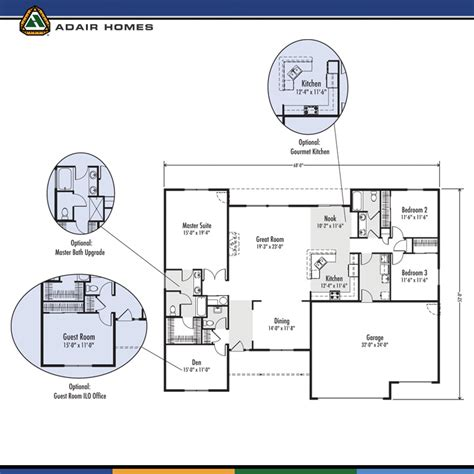 adair floor plans adair homes the josephine 2382 home plan