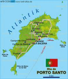 map of porto santo portugal map in the atlas of the