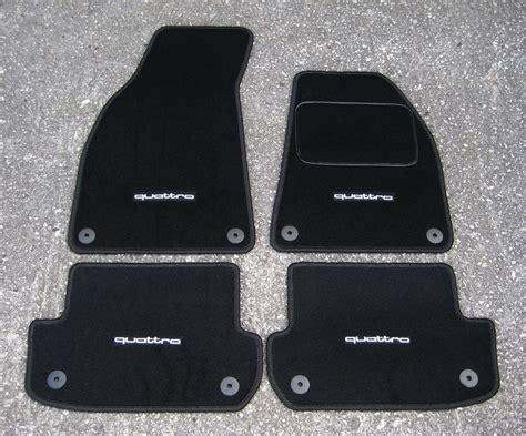 car mats in black to fit audi a4 b6 b7 2001 08 quattro