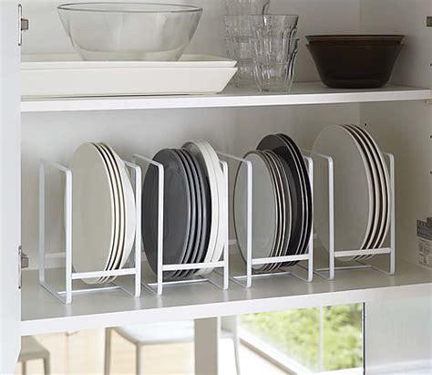 vertical plate rack yamazaki cupboard drawer