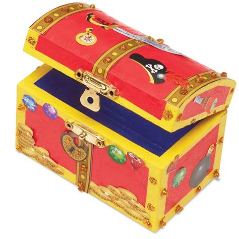 Treasure Chest Boxes To Decorate by Decorate Your Own Wooden Treasure Chest Craft Educational Toys Planet