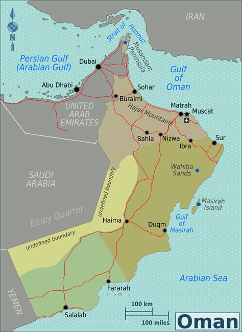 physical map of oman maps of oman detailed map of oman in tourist