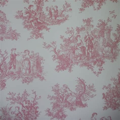 shabby chic wallpaper for sale toile de jouy wallpaper 4 colours shabby chic black