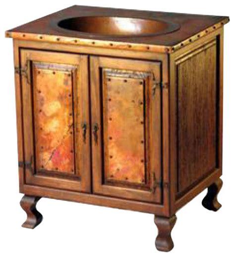 copper bathroom vanity reclaimed wood copper sink vanity rustic bathroom