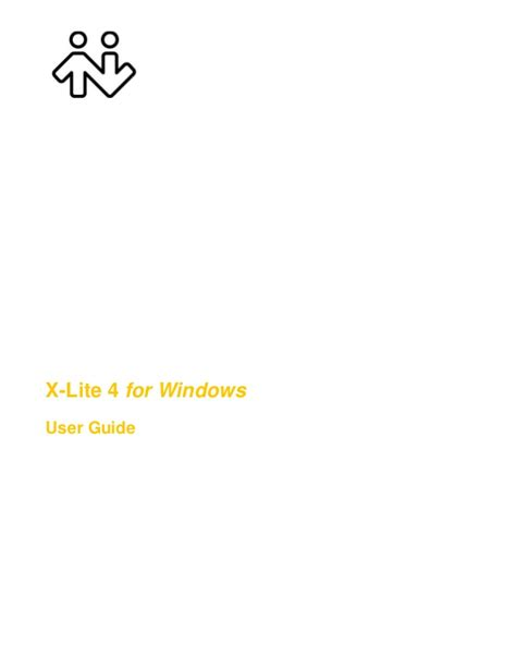 x lite windows 4 user guide r2