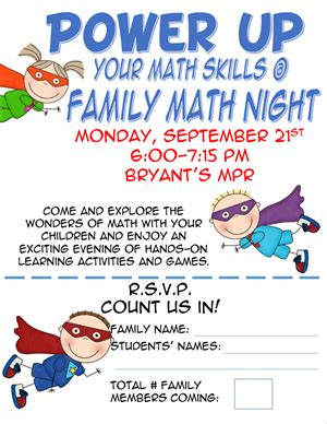 Math Flyer Template