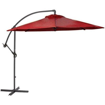 Home Depot Patio Umbrella Home Decorators Collection 8 9 Ft Cantilever Patio Umbrella In Chili 8131400110 The Home Depot