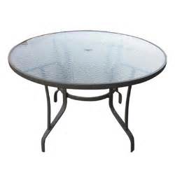 Patio Table Glass by Glass Patio Table 45 Quot Round Glass Patio Table American