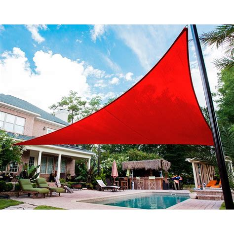 triangle sail sun shade quictent 12 16 5 18 20 triangle sun shade sail outdoor patio canopy 6 colors ebay