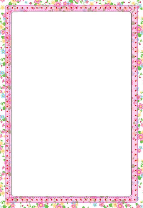 printable paper with flower border best photos of free printable border templates free