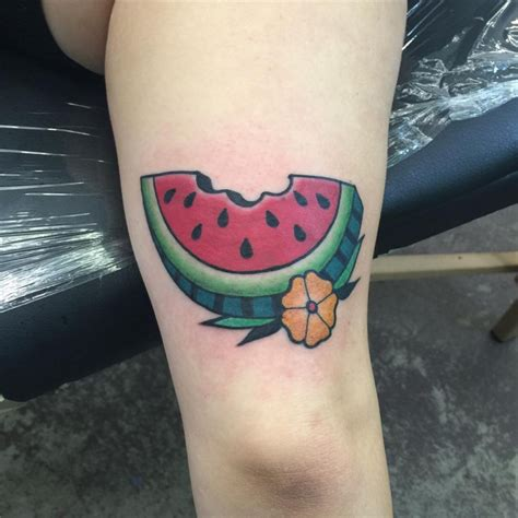 watermelon tattoo 21 watermelon designs ideas design trends