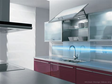 modern glass kitchen cabinets pictures of kitchens modern red kitchen cabinets kitchen 8