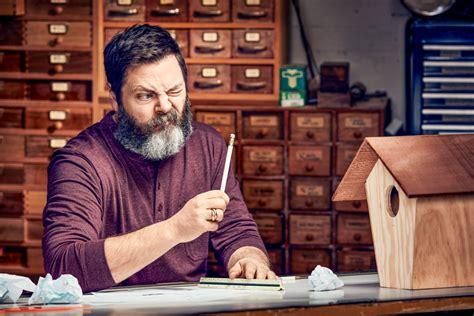 nick offerman   worlds funniest woodworker