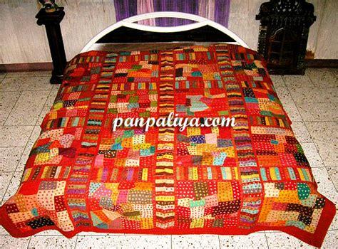 Bed Cover Patchwork - handmade cotton patchwork ethnic designer bedspreads bed