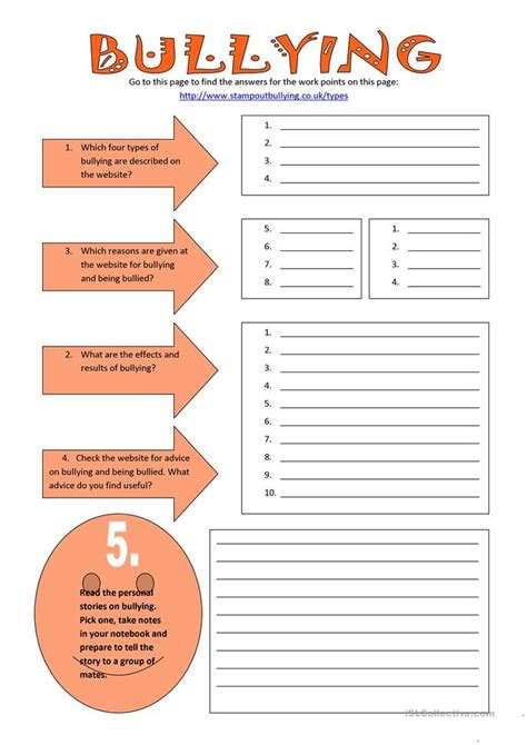 Bullying Worksheets by 36 Free Esl Bullying Worksheets