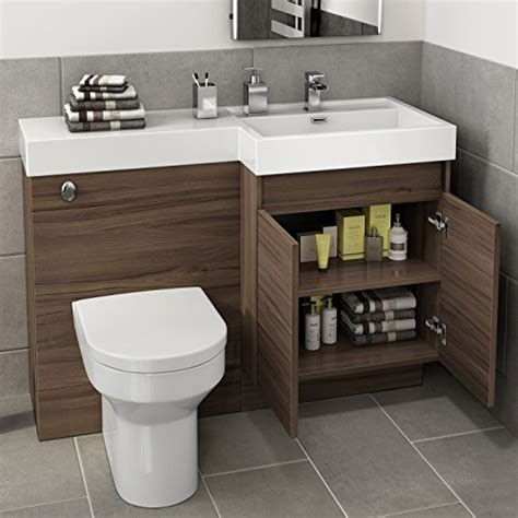1200 mm modern walnut bathroom vanity unit basin sink