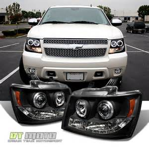 blk 2007 2014 chevy suburban tahoe avalanche led halo