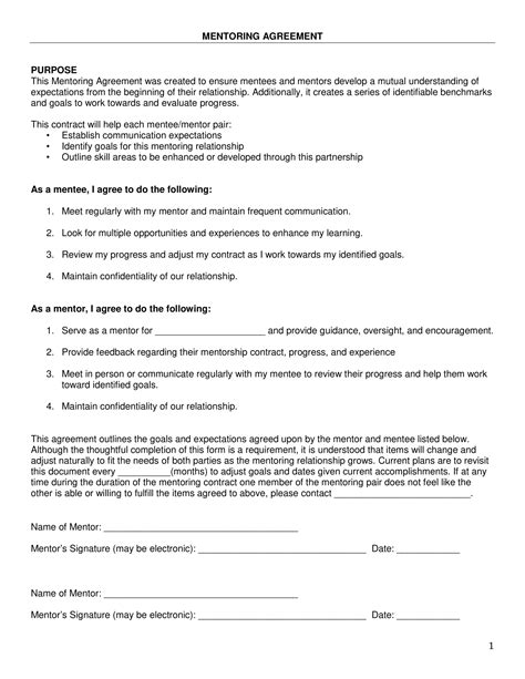 9 Mentoring Action Plan Exles Pdf Coaching And Mentoring Agreement Template