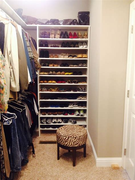 mens shoe storage ideas master closet white shelves shoe shelves closets