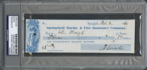 lincoln check lot detail abraham lincoln signed check dated february 4