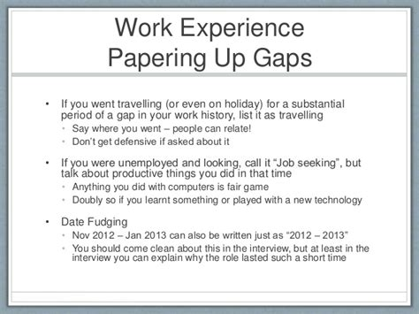 Work Gaps On Your Resume by Sle Cover Letter Explaining Gap In Employment
