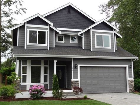 best exterior house paint uk paint idea grey on top w white trim homies