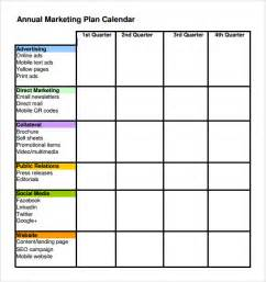 exle marketing plan template sle marketing schedule template 5 free documents