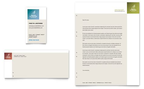 Decks Fencing Business Card Letterhead Template Word Publisher Fencing Business Plan Template