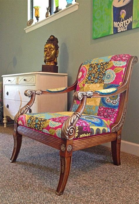 Bohemian Style Furniture | one of a kind chair bohemian style colorful furniture