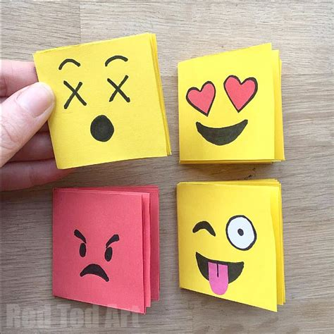 How To Make A Paper Notebook - emoji mini notebook diy one sheet of paper ted