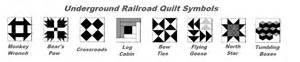 pics for gt underground railroad quilt symbols