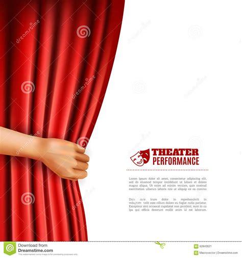 Tirai Teater opening theatre curtain illustration stock vector