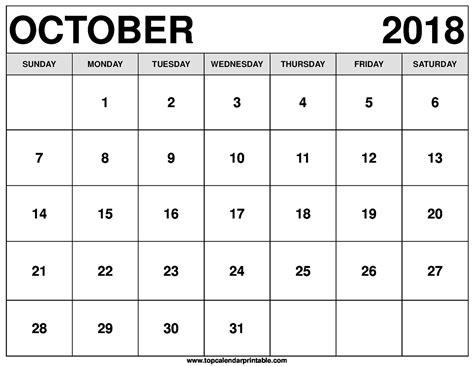 october 2018 calendar october 2018 calendar