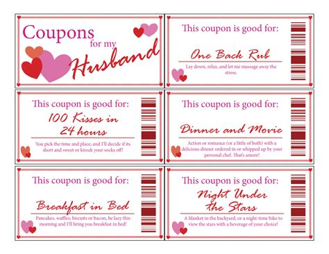 free custom printable love coupons husband love couponsprintabledigitalstocking
