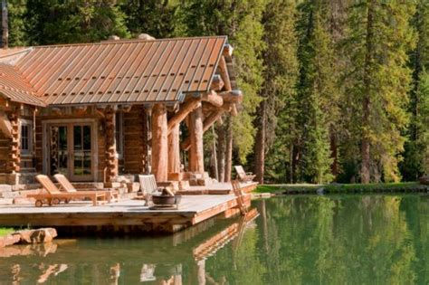 log cabin by lake 171 the log builders