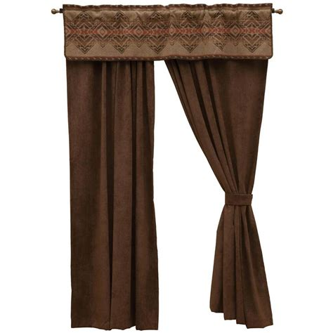 western curtains and valances wrangler western drapes with coordinating valance cabin place