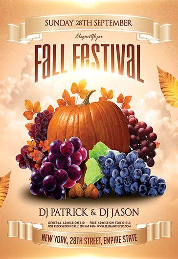 Fall Festival Free Flyer Psd Template By Elegantflyer Fall Flyer Template